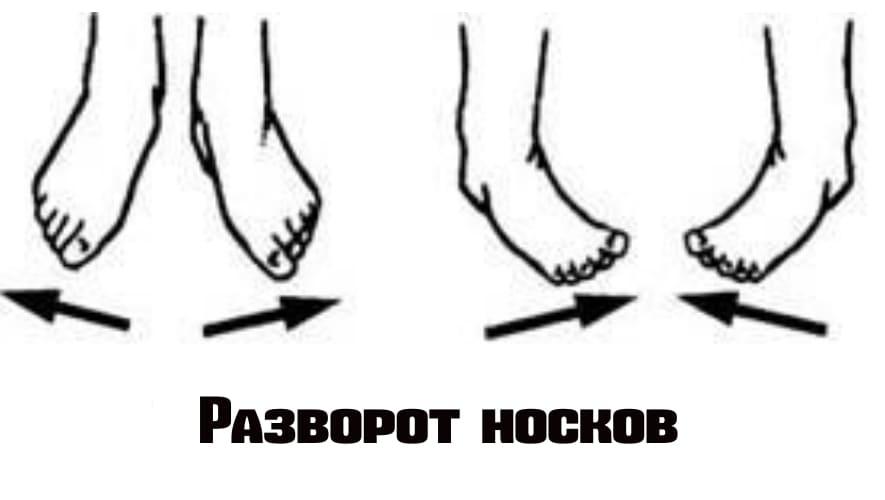 Разворот носков