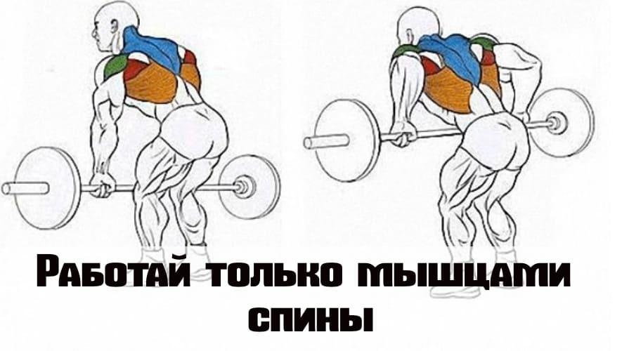Работайте чисто мышцами спины