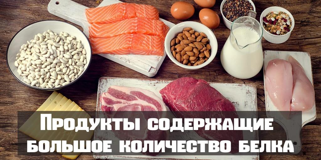 Продукты содержащие большое количество белка