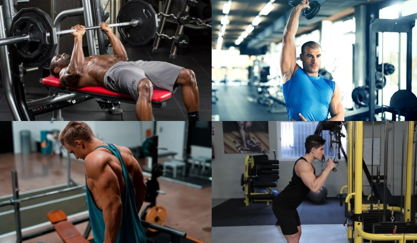 Упражнения для тренировки трицепса