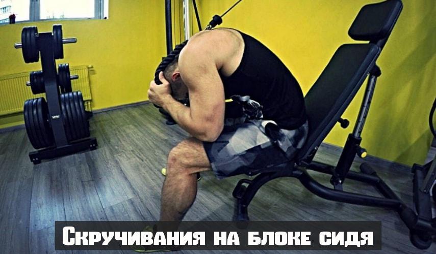 Скручивания на блоке сидя