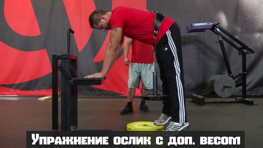 Упражнение ослик с дополнительным весом